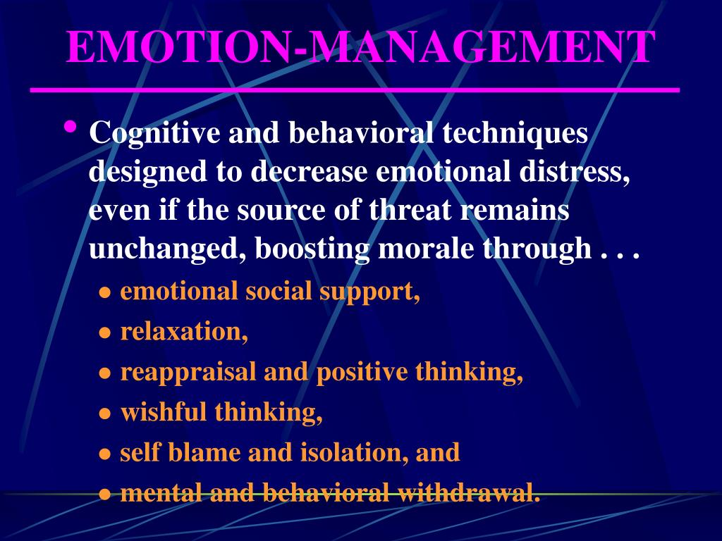 EMOTION-MANAGEMENT