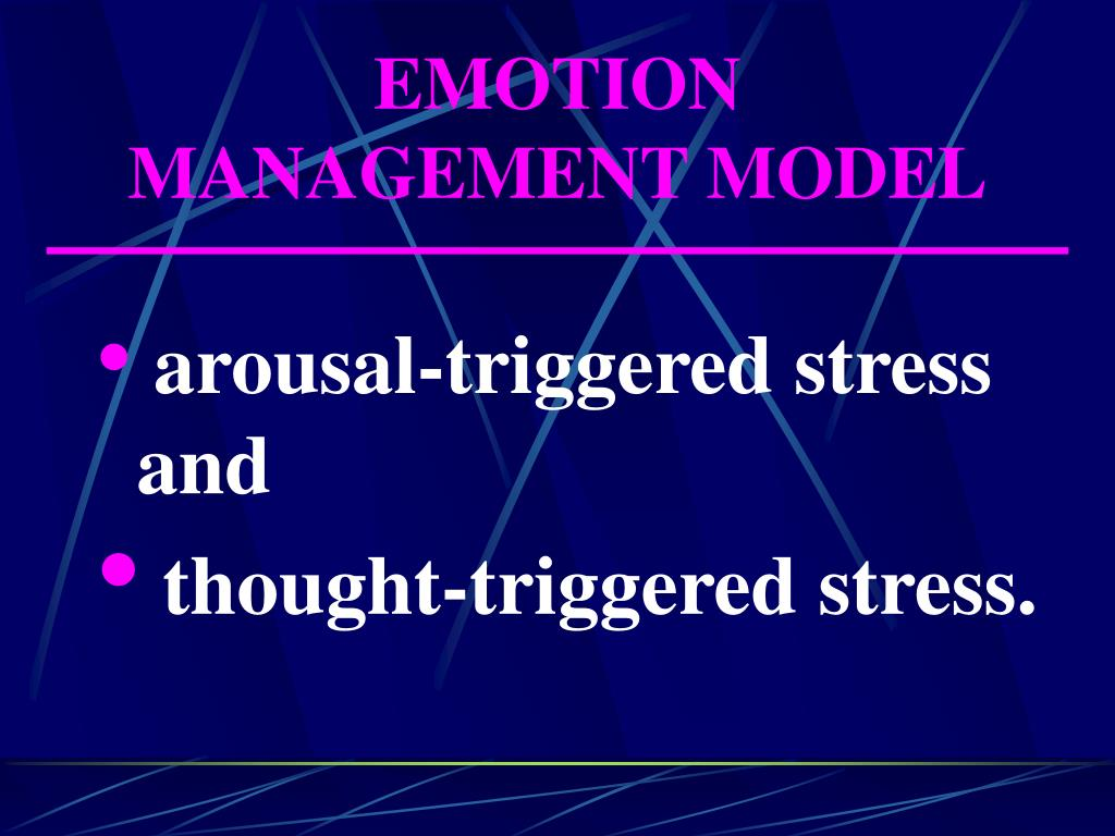 EMOTION MANAGEMENT MODEL
