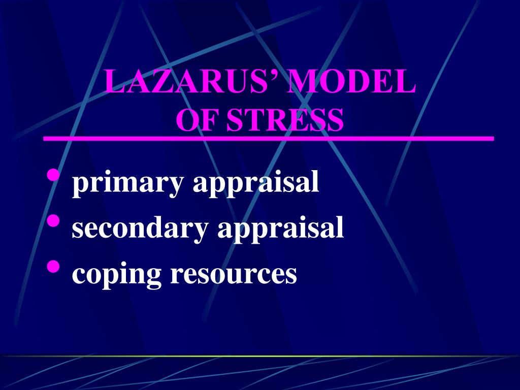 LAZARUS' MODEL