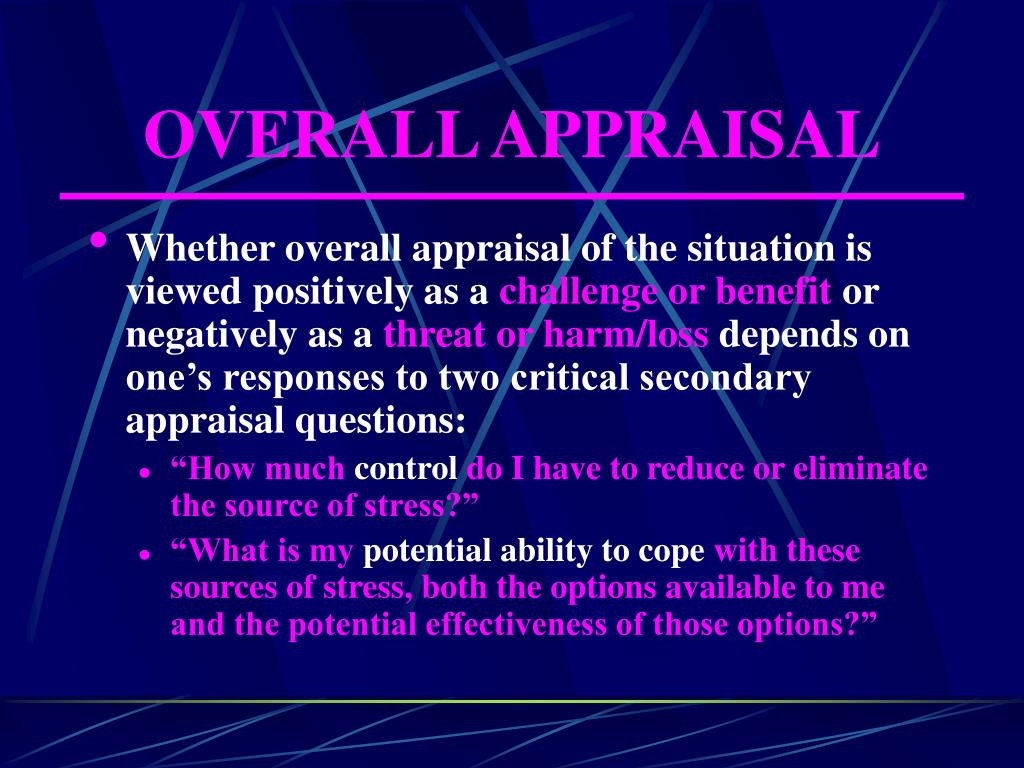 OVERALL APPRAISAL