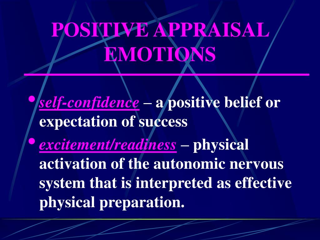 POSITIVE APPRAISAL EMOTIONS