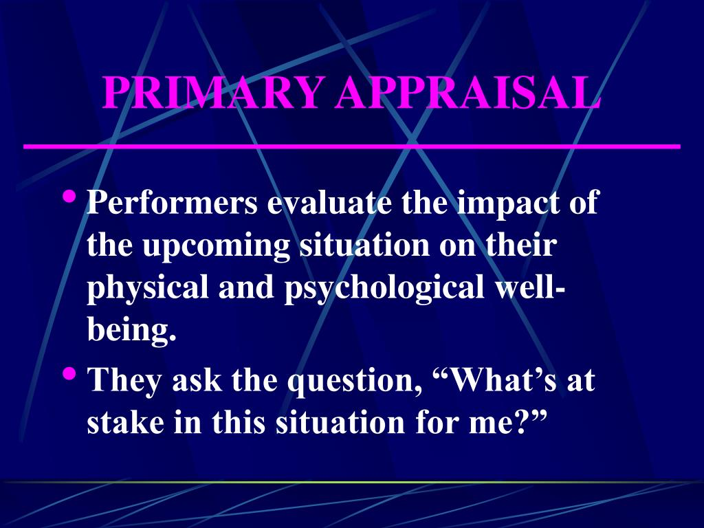 PRIMARY APPRAISAL