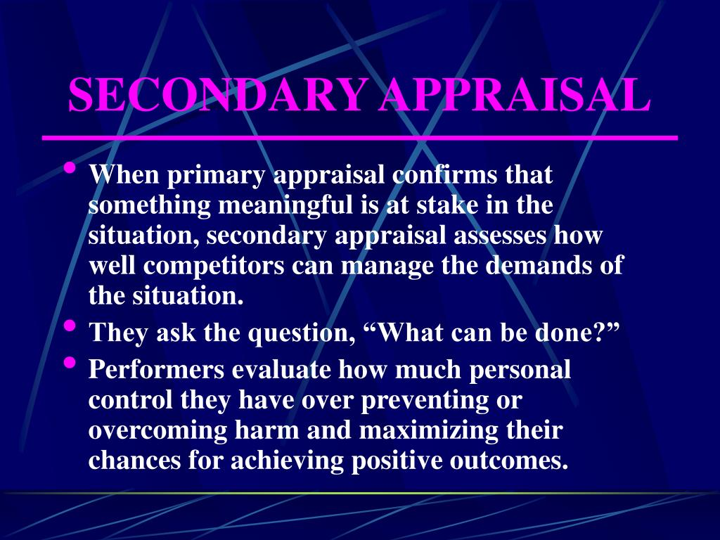 SECONDARY APPRAISAL