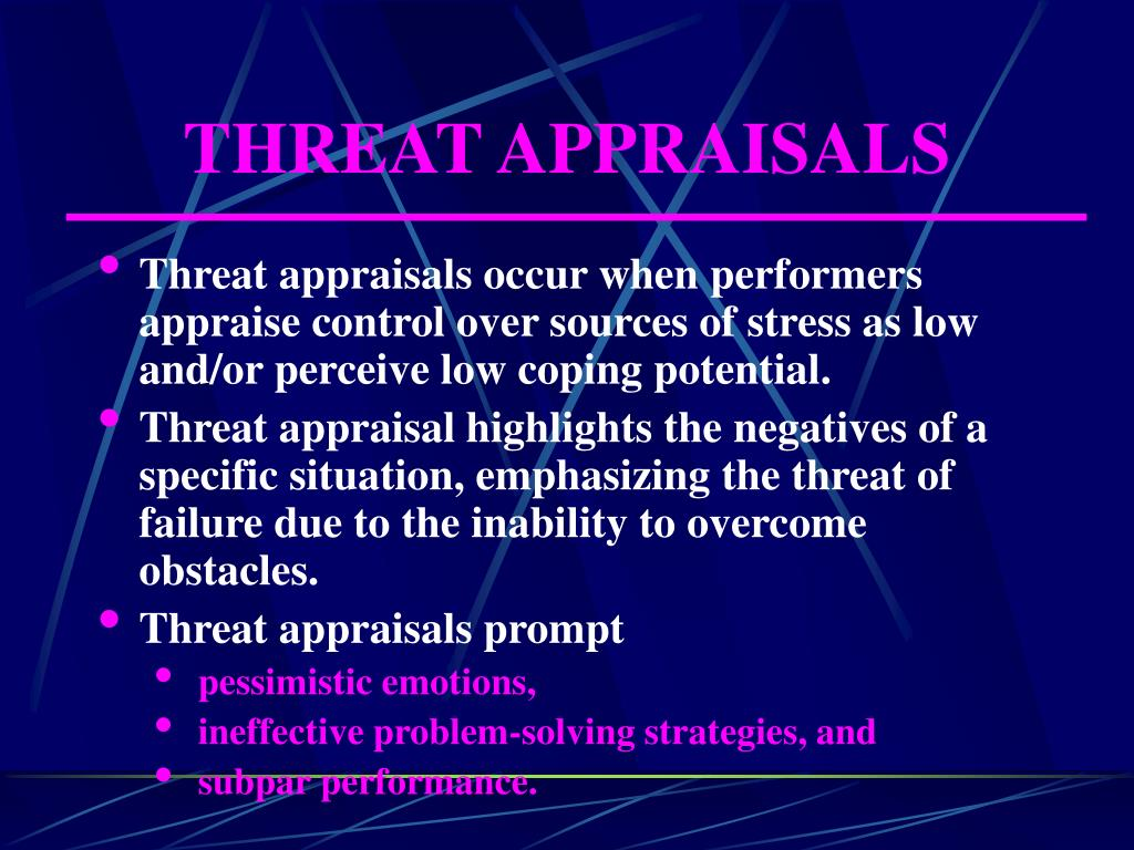 THREAT APPRAISALS