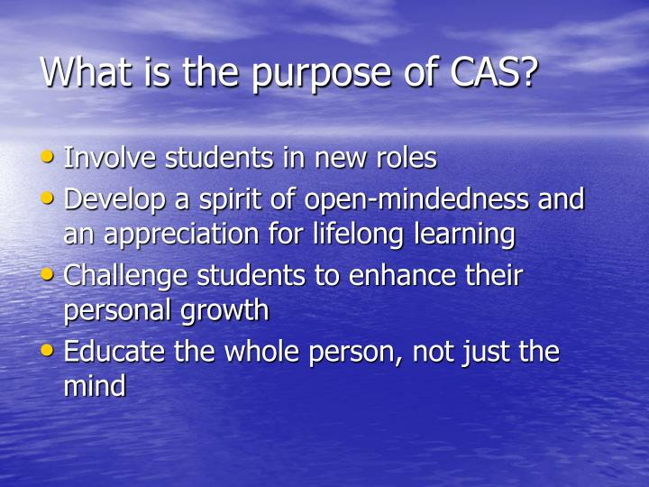 What is the purpose of cas