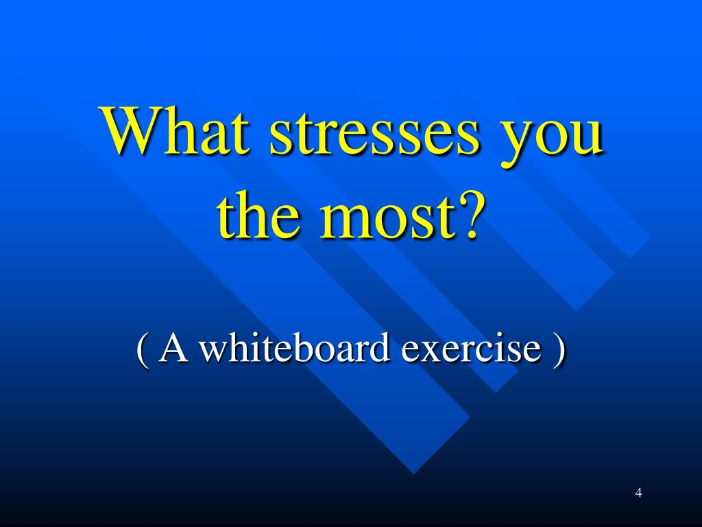 What stresses you the most?