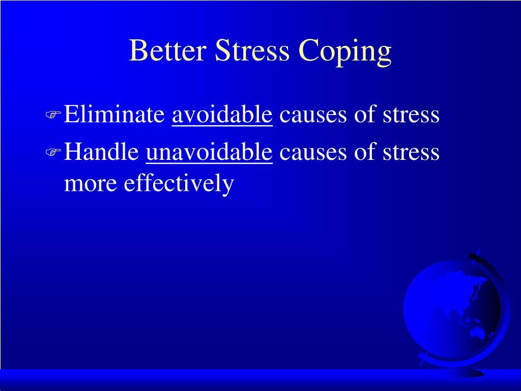 Better Stress Coping