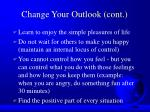 change your outlook cont