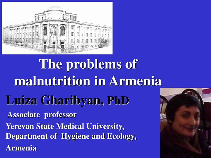 The problems of malnutrition in Armenia