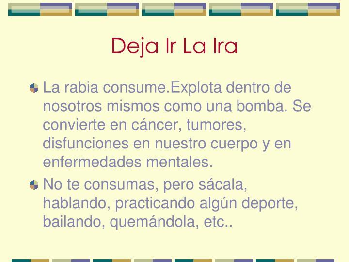 Deja Ir La Ira
