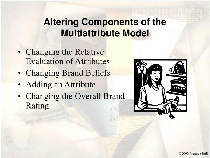 Altering Components of the Multiattribute Model