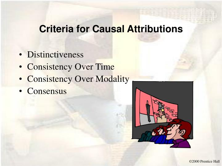 Criteria for Causal Attributions