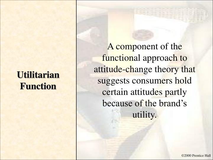 Utilitarian Function