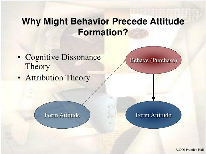 Why Might Behavior Precede Attitude Formation?