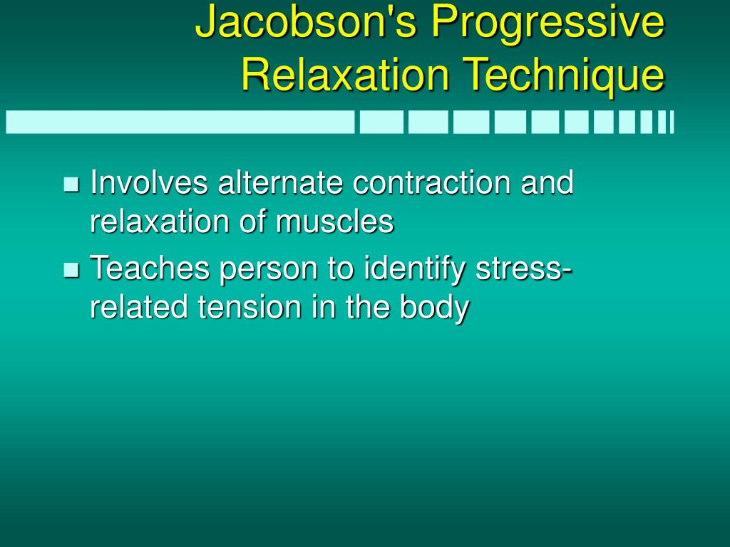 Jacobson's Progressive Relaxation Technique