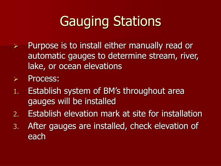 Gauging Stations