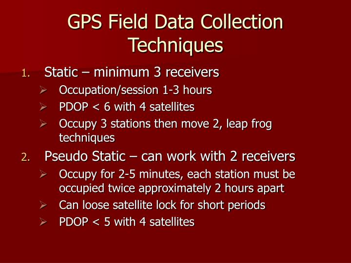 GPS Field Data Collection Techniques
