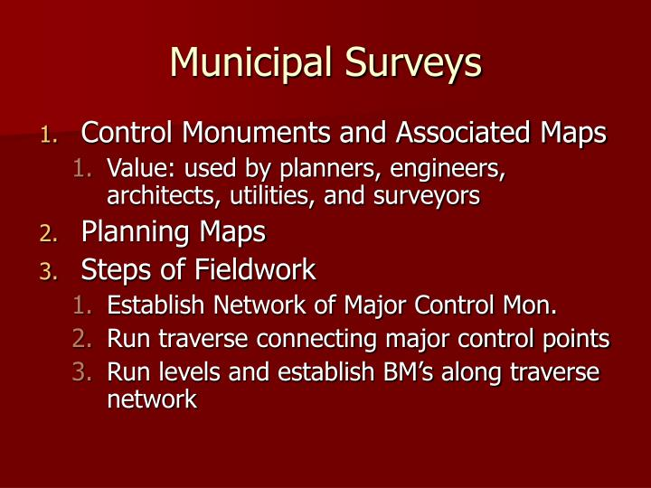 Municipal Surveys