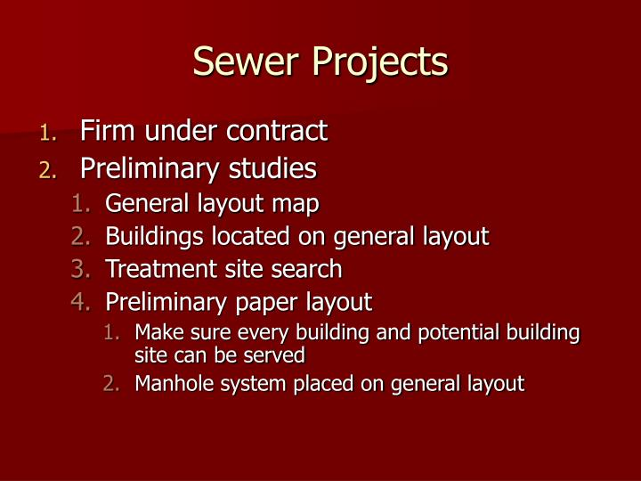 Sewer Projects