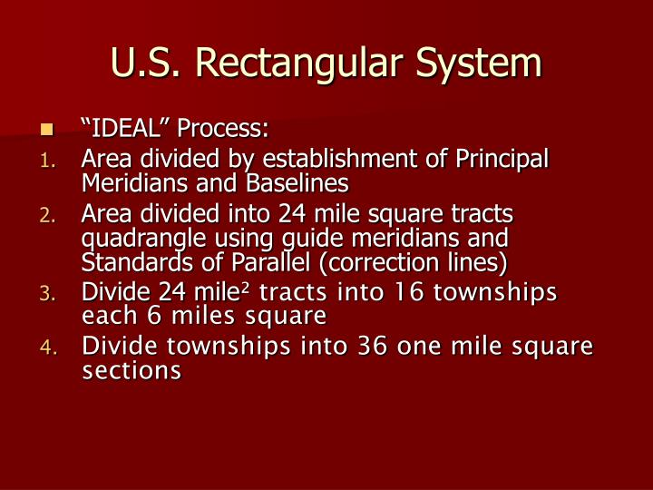 U.S. Rectangular System