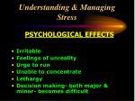 understanding managing stress22