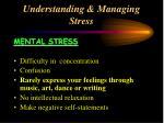 understanding managing stress33