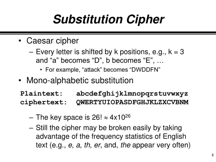 Substitution Cipher
