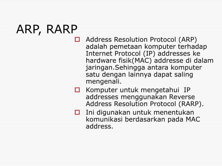 ARP, RARP