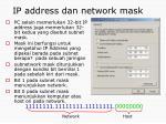 ip address dan network mask