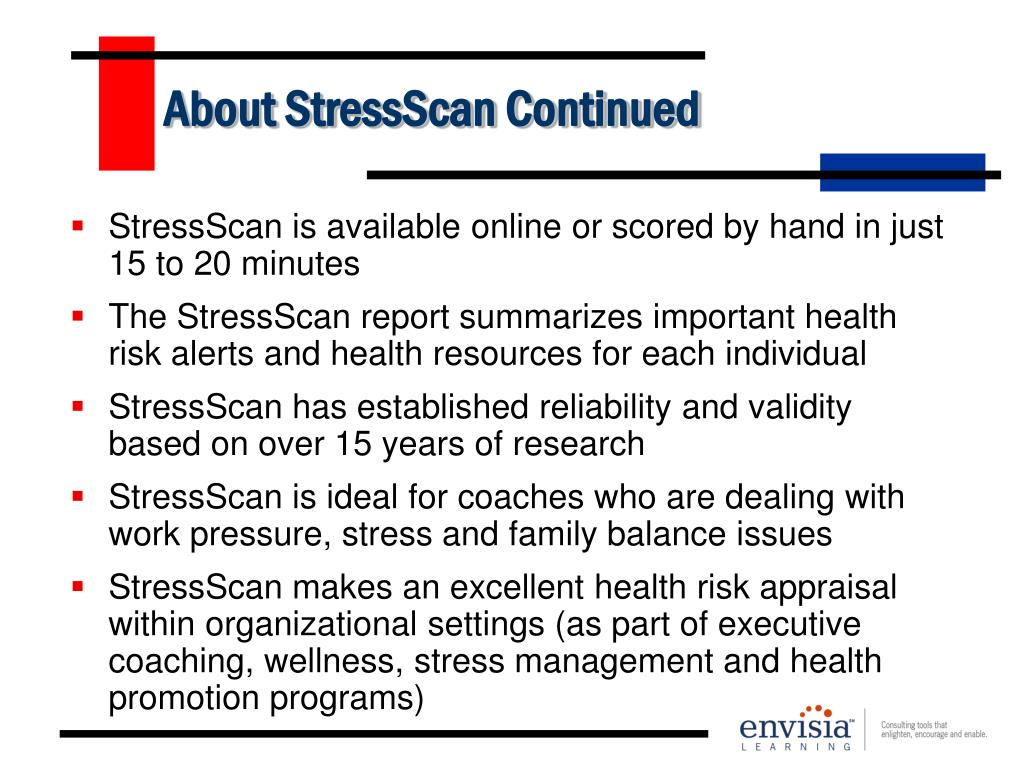 About StressScan Continued