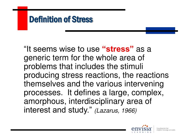 Definition of stress