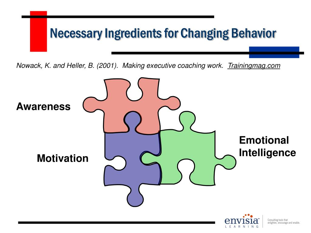 Necessary Ingredients for Changing Behavior