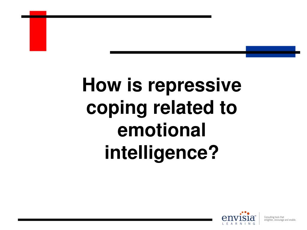 How is repressive coping related to emotional intelligence?