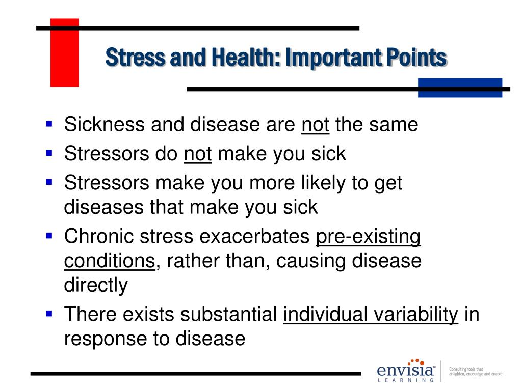 Stress and Health: Important Points