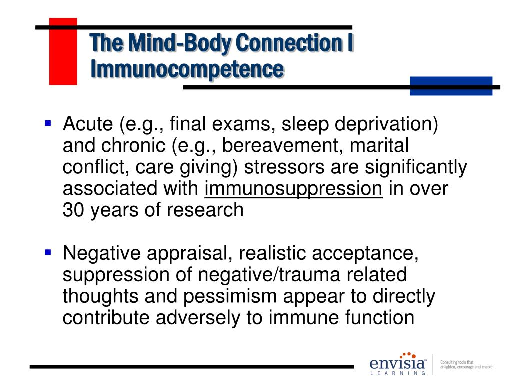 The Mind-Body Connection I Immunocompetence