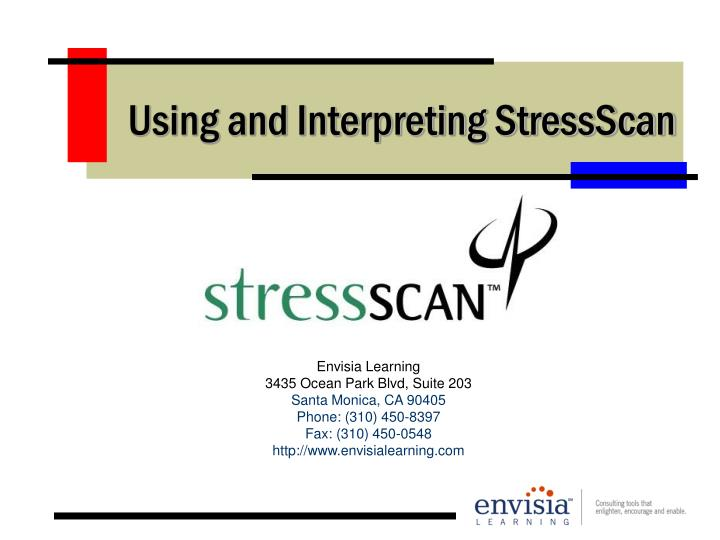 Using and interpreting stressscan