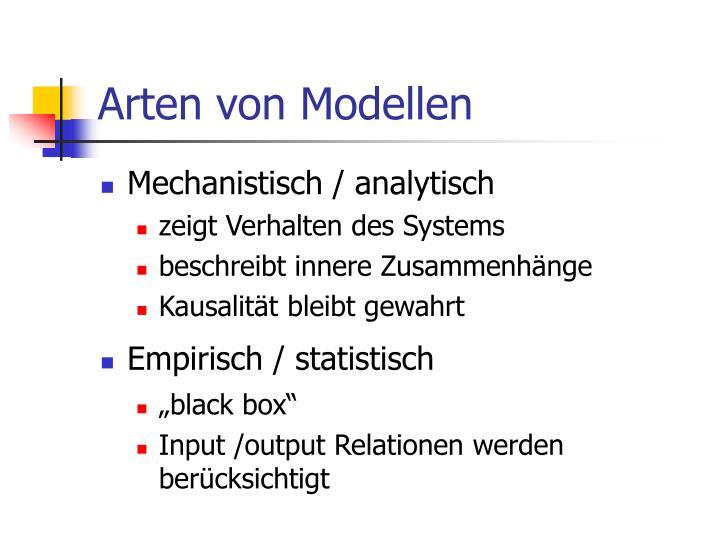 Arten von Modellen