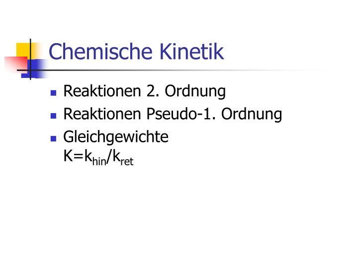 Chemische Kinetik
