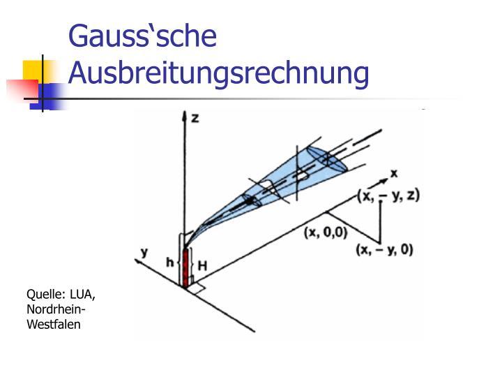 Gauss'sche Ausbreitungsrechnung