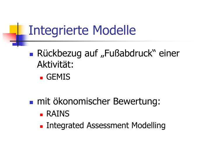 Integrierte Modelle