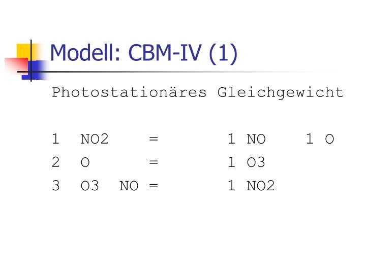 Modell: CBM-IV (1)