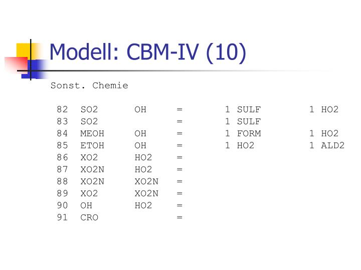 Modell: CBM-IV (10)