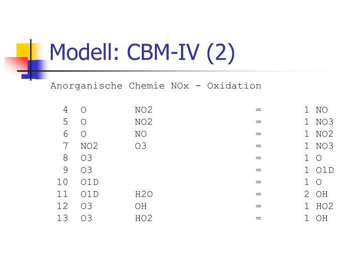 Modell: CBM-IV (2)