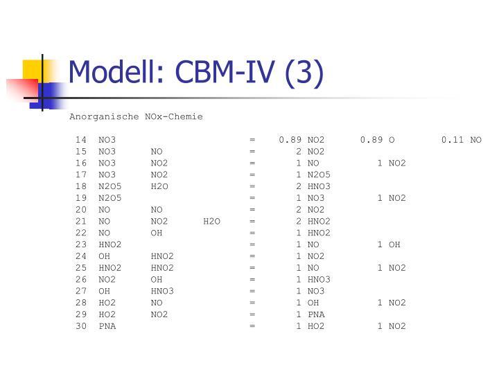 Modell: CBM-IV (3)