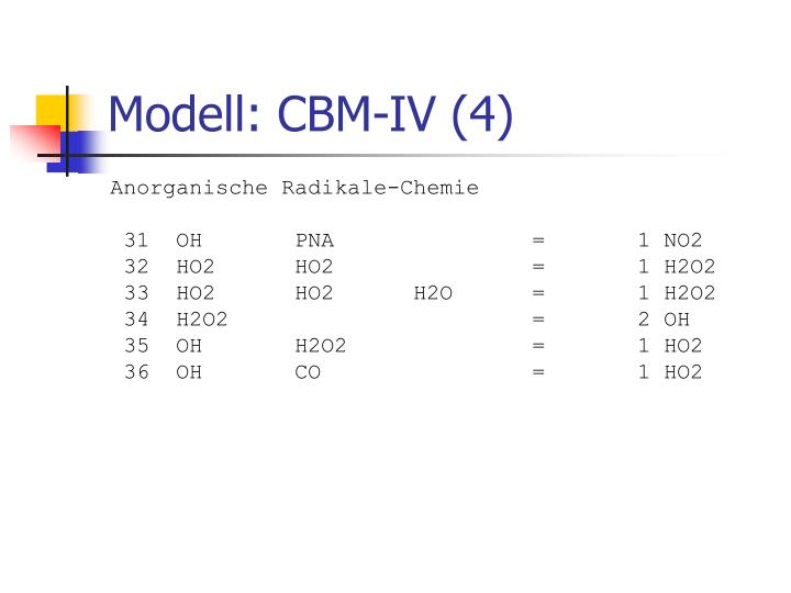 Modell: CBM-IV (4)
