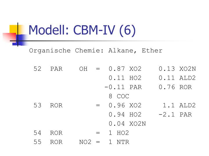 Modell: CBM-IV (6)