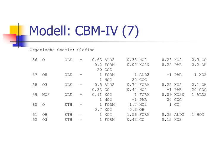 Modell: CBM-IV (7)