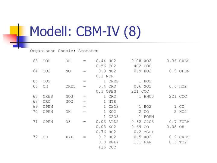 Modell: CBM-IV (8)