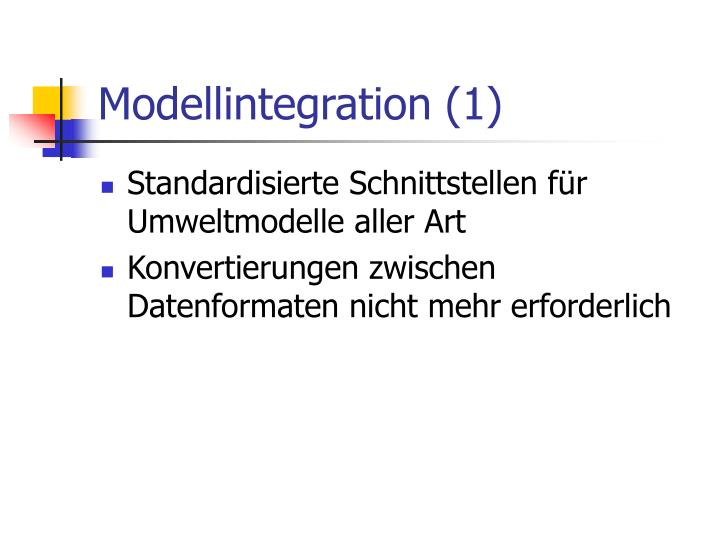 Modellintegration (1)