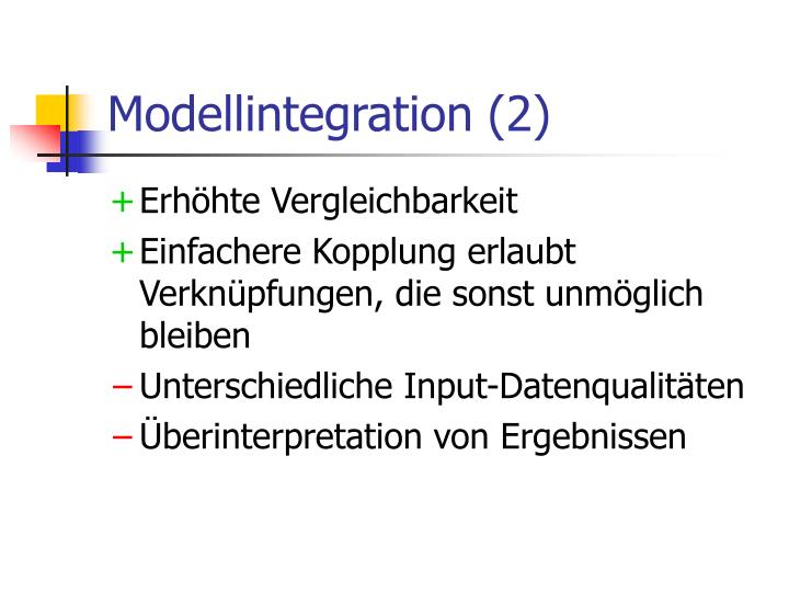 Modellintegration (2)
